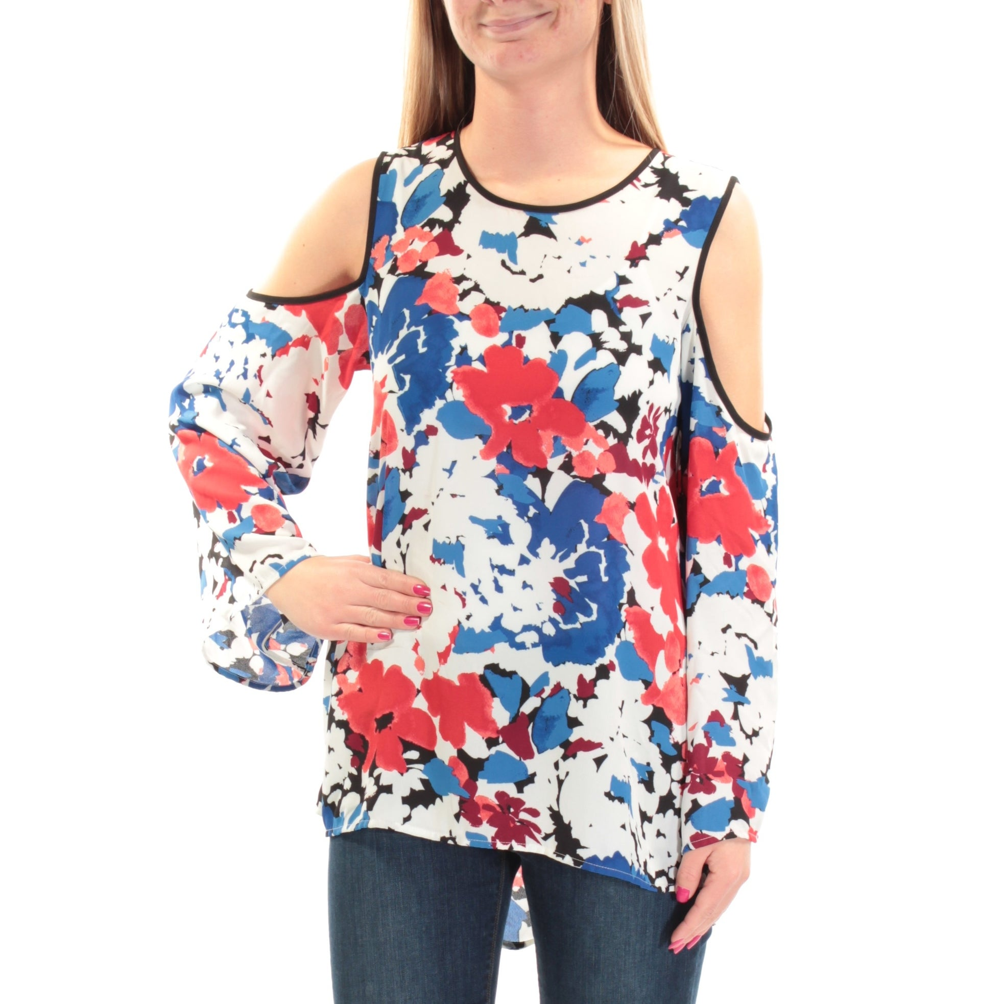 VINCE CAMUTO Womens Top Blue Xs