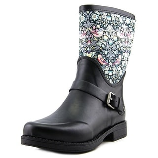 Ugg Australia Sivada Liberty Women Round Toe Synthetic Black Rain Boot