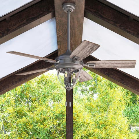 """52"""" Honeywell Glencrest Craftsman Indoor / Outdoor Ceiling Fan, Iron - 52"""