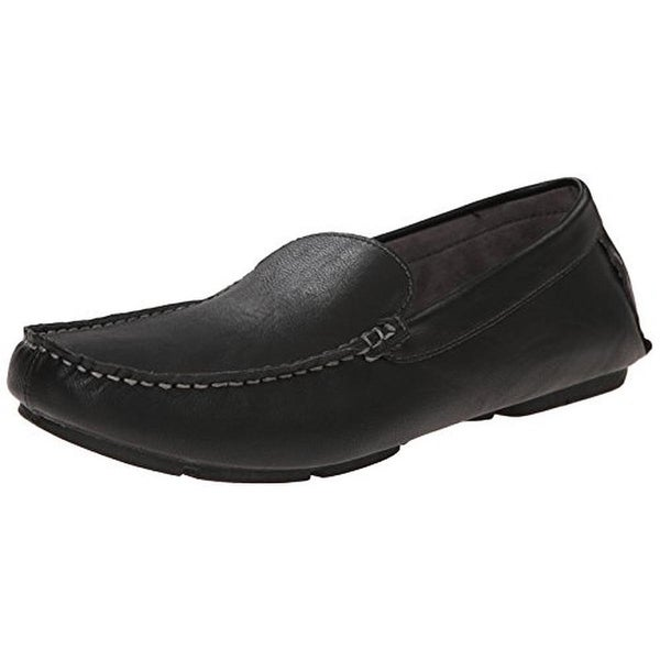 Report Mens Luis Faux Leather Square Toe Penny Loafers - 10 medium (d)