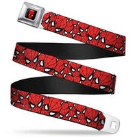 Marvel Comics Spider Man Full Color Spider Man Stacked Webbing Seatbelt Seatbelt Belt