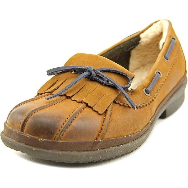4ef67df602e Shop Ugg Australia Haylie Women Moc Toe Leather Brown Boat Shoe ...