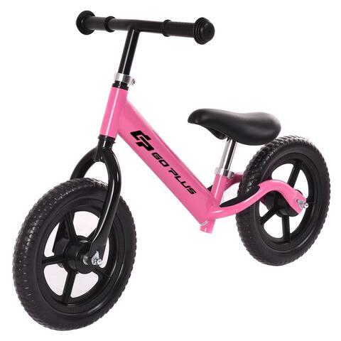 Goplus 12'' Balance Bike Classic Kids No-Pedal Learn To Ride Pre Bike - 33''L x 14.3''W x 19.3''-23.3''H