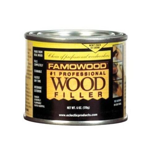 Famowood 36041128 Solvent Based Wood Filler 6 Oz Oak Teak