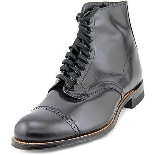 Stacy Adams Madison Cap Toe Dress Boot Men E Round Toe Leather Black Ankle Boot