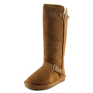 Bearpaw Johanna Women Round Toe Suede Tan Winter Boot
