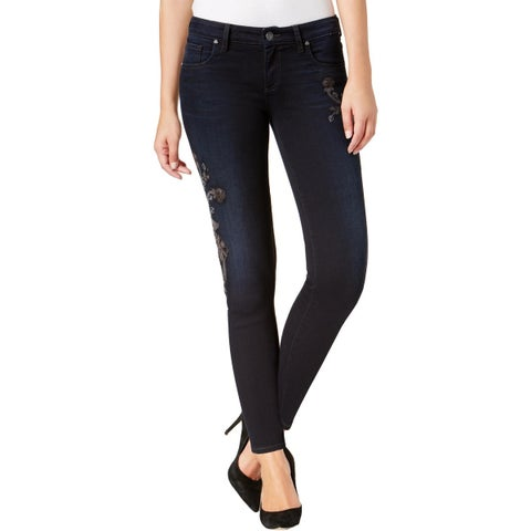 Kut From The Kloth Womens Donna Ankle Jeans Embroidered Skinny Fit