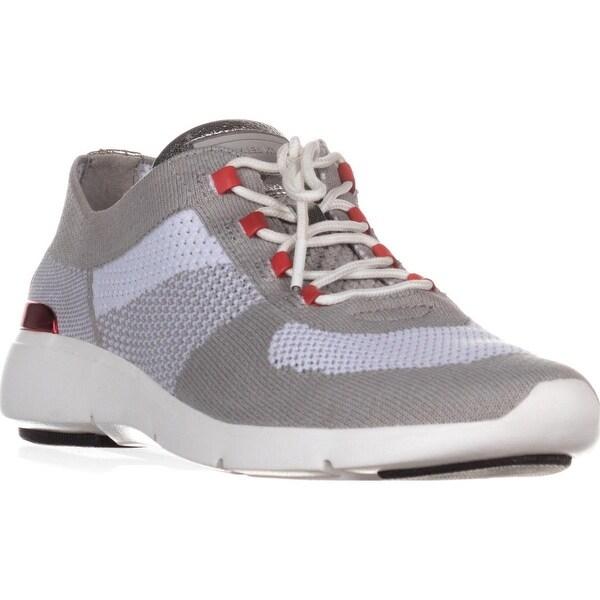 MICHAEL Michael Kors Skyler Trainer Sneakers, Aluminum/Dark Sangria