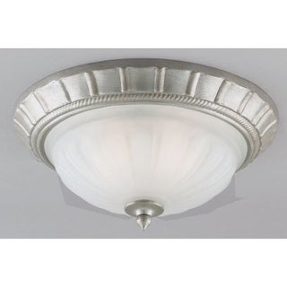 Westinghouse 64351 Single Light Ceiling Fixture Featuring Frosted Skipped Fluted Glass