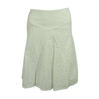 Ralph Lauren Women's Pleated Eyelet Skirt - 8