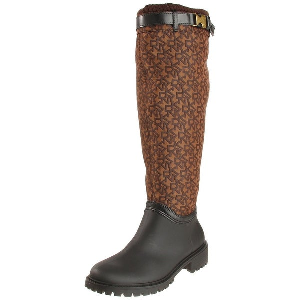 DKNY Womens Cascade Almond Toe Knee High Fashion Boots
