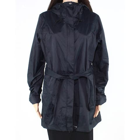 Columbia Women's Jacket True Midnight Black Size XS Belted Trench