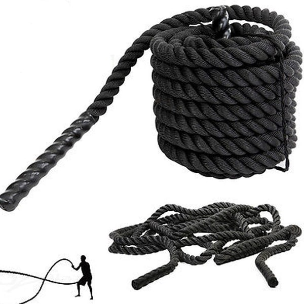 1.5 Inch Heavy Battle Exercise Training Rope 30ft/40ft Length for Strength Training Home Gym Outdoor Cardio Workout. Opens flyout.