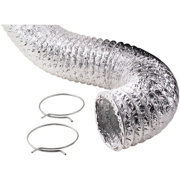 Deflecto F0405Msx/30 Aluminum Duct (Supurr-Flex(R) Transition Ducting; 5Ft)