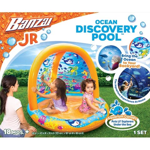 Banzai Jr. Ocean Discovery Toddler Pool, 18 Months & Up
