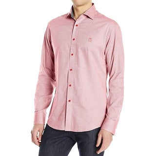 Vince Camuto NEW Red Contrast-Cuff Mens Size XL Button Down Shirt