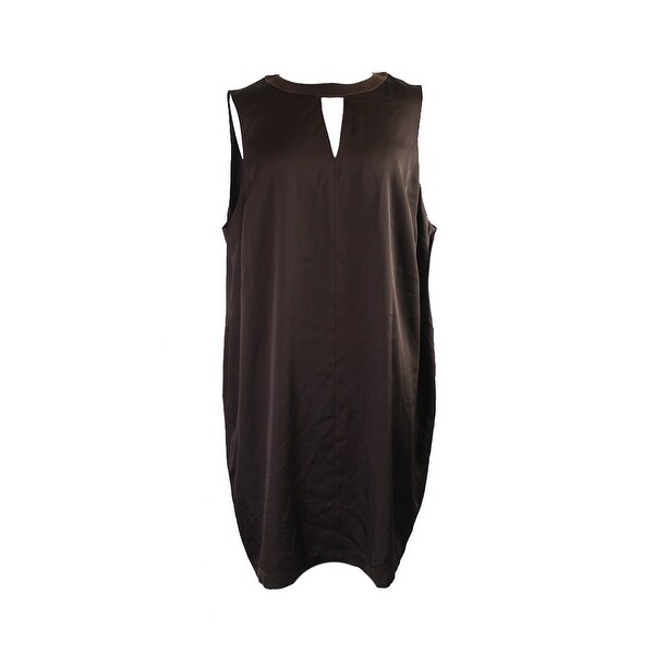 Shop Ralph Lauren Plus Size Chocolate Sleeveless Dress 18W ...