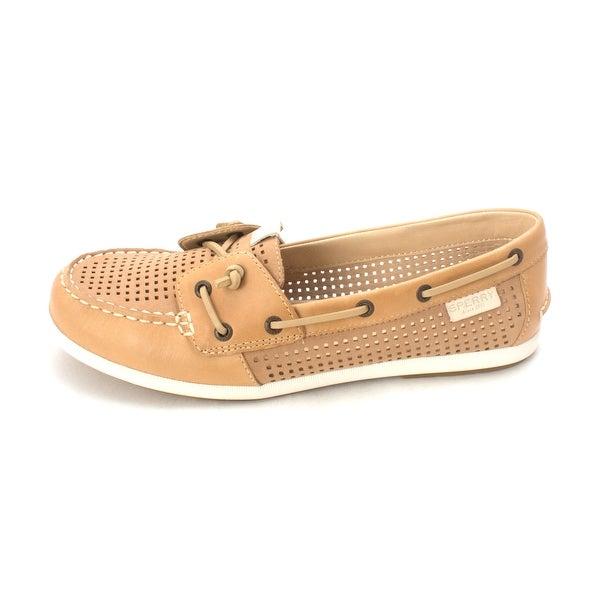 Sperry Womens Coil iVY Leather Closed Toe Boat Shoes