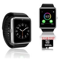 Indigi® Silver GT8 Bluetooth SmartWatch & Phone w/ Pedometer + Sleep Monitor + Camera w/ 32gb microSD Included