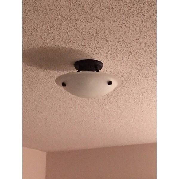 Shop Livex Lighting Oasis Bronze Ceiling Mount 3-light Fixture ...