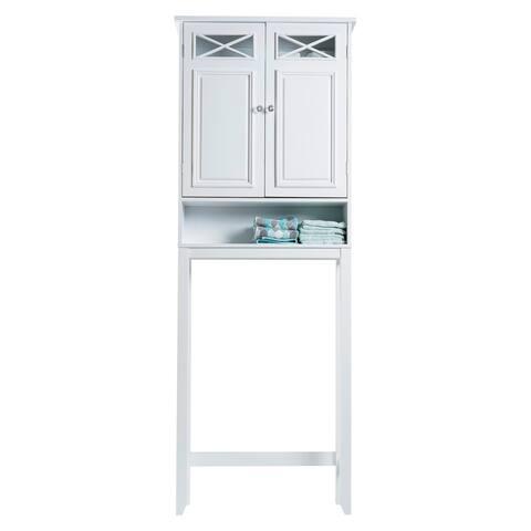 Virgo White Bathroom Space Saver by Elegant Home Fashions