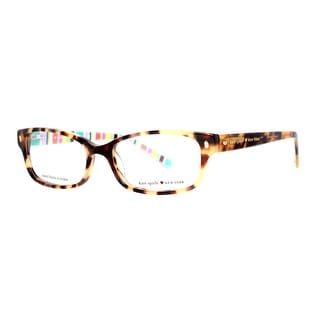 KATE SPADE Rectangular Lucyann Women's 0W40 Camel Tortoise Brown Clear Eyeglasses - 51mm-16mm-135mm