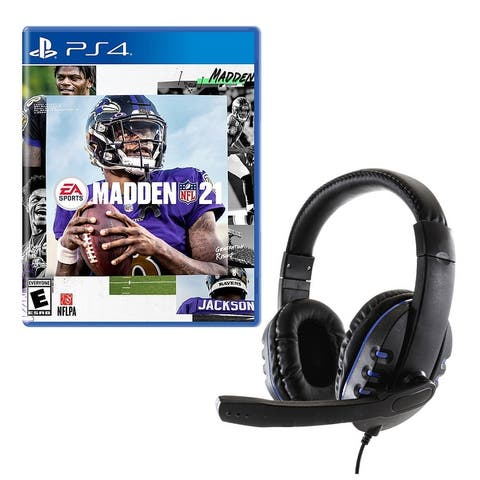 Madden 21 Game for PlayStation with Universal Headset - Multicolor