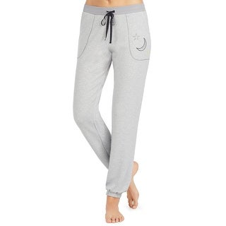 Betsey Johnson Gray Women's Size Large L Moon Print Lounge Pants