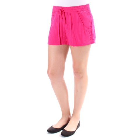 FRENCH CONNECTION Womens Pink Tie Thin Material Short Size: 8