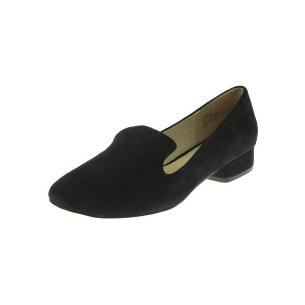 Steve Madden Womens Jean Smoking Loafers Solid Block Heel