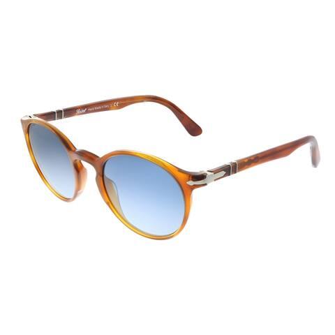Persol PO 3171S 96/Q8 49mm Unisex Terra Di Siena Frame Azure Blue Gradient Lens Sunglasses
