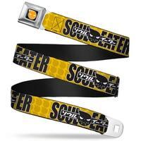 Soul Eater Logo Full Color Black Orange Soul Eater Logo Monogram Yellows Seatbelt Belt