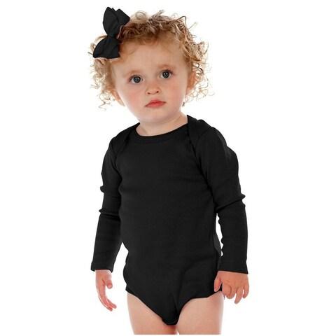 Kavio. Unisex Infants Lap Shoulder Long Sleeve Bodysuit