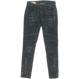 Polo Ralph Lauren Womens Skinny Jeans Pintuck Dark Wash