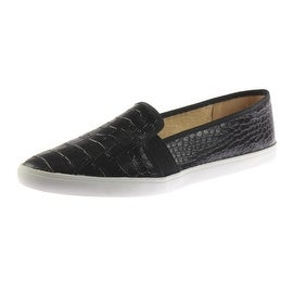 Naturalizer Womens Kail Faux Leather Crocodile Print Loafers