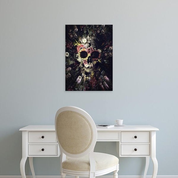 Easy Art Prints Ali Gulec's 'Garden Skull Dark' Premium Canvas Art