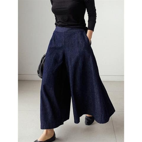 Loose Wide-Leg Empire Jean Pants - SAME AS PICTURE