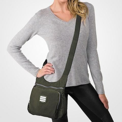 Suvelle Small City Travel Crossbody Bag Shoulder Handbag Multi Pocket Nylon Purse 9288
