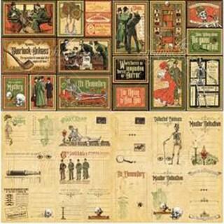 """16 4""""X6"""" & (16) 3""""X4"""" - Master Detective Journaling & Ephemera Cards"""