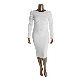 MaryCrafts Womens Wear to Work Dress Ponte Ruched - 16