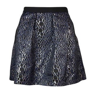 French Connection Women's Sparkle Ray A-line Skirt - Silver