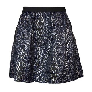 French Connection Women's Sparkle Ray A-line Skirt - Silver (2 options available)