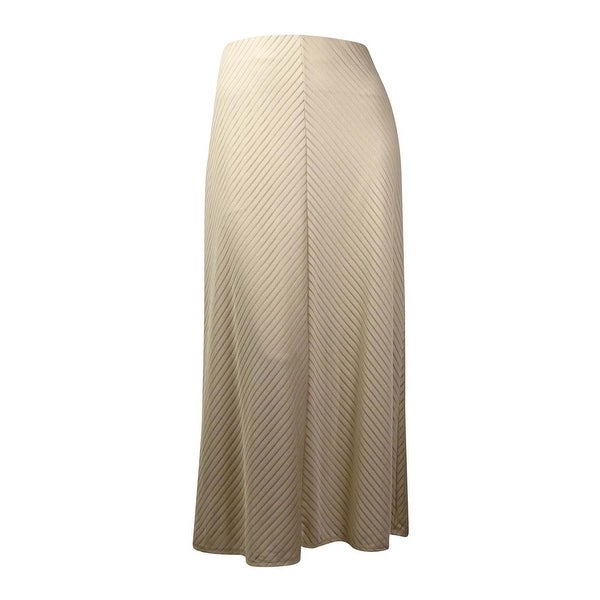 Shop Eci New York Women S Tonal Chevron Knit Maxi Skirt Tan L