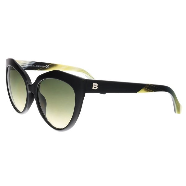 26b195d4e34 Balenciaga BA0048 01B Black Cat Eye Sunglasses - 56-18-140. Click to Zoom