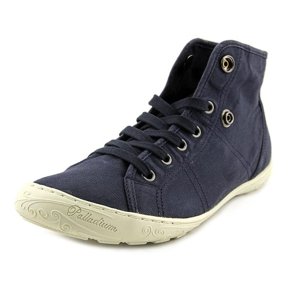 Palladium Gaetane TWL Women Round Toe Canvas Blue Sneakers