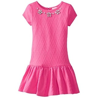 Youngland Girls Jacquard Embellished Casual Dress - 5