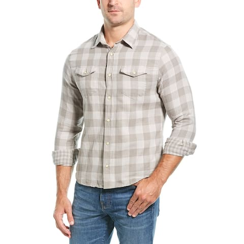 Jachs Double Face Classic Fit Western Shirt - Grey