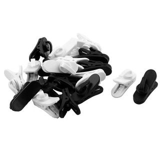 Headset Earphone Plastic Nonslip Cable Cord Wire Clothing Clip White Black 20pcs