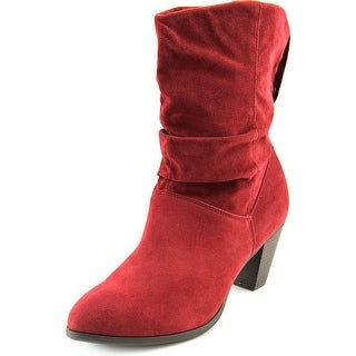 Rampage Trixen Round Toe Synthetic Mid Calf Boot