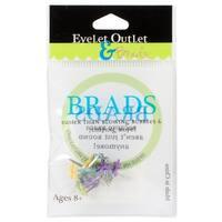 Eyelet Outlet Shape Brads 12/Pkg-Mini Flowers - Bright
